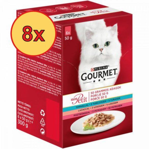 8x Gourmet Mon Petit Tonhallal, Lazaccal, Pisztránggal 6x50g