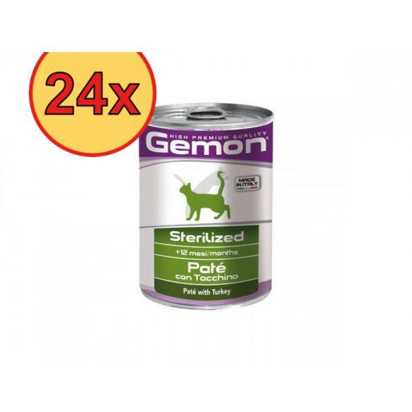 24x Gemon Cat 400g Pate Steril Pulyka