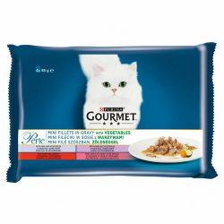 Gourmet Perle 4x85g Borjú + Vad + Marha + Pisztráng + Zöldség Szószban Alutasak