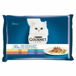 Gourmet Perle 4x85g Pulyka + Tonhal + Kacsa + Bárány Szószban Alutasak