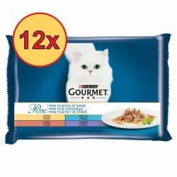 12x Gourmet Perle 4x85g Pulyka + Tonhal + Kacsa + Bárány Szószban Alutasak
