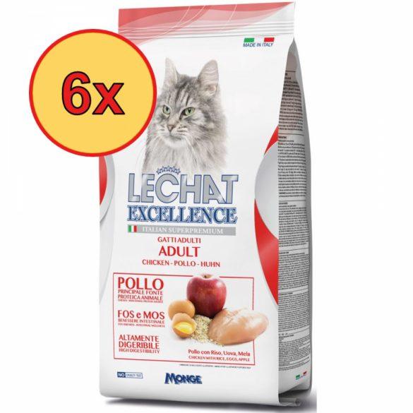 6x Lechat Excellence 1,5kg Adult Csirke
