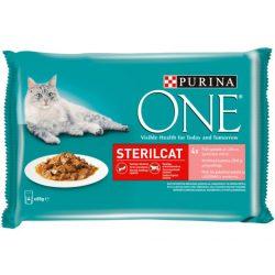 Purina One STERILCAT Lazaccal és Sárgarépával alutasakos macskaeledel 4x85g