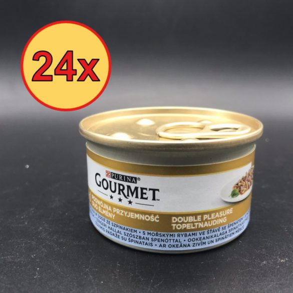 24x Gourmet Gold 85g Szósz Tengerihal + Spenót
