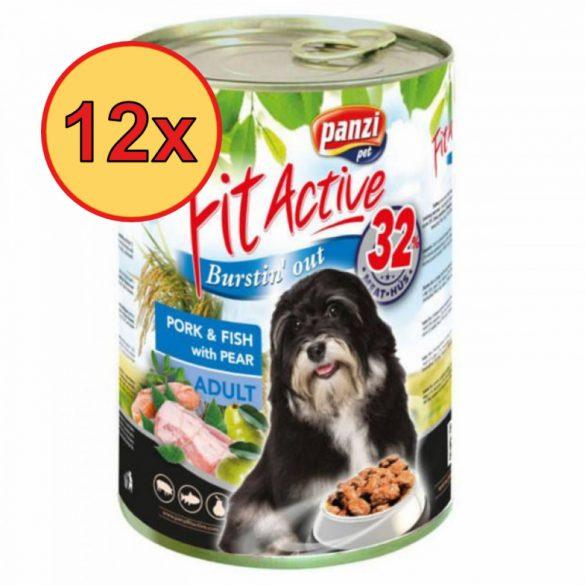 12x FitActive DOG 1240g Sertés+Hal