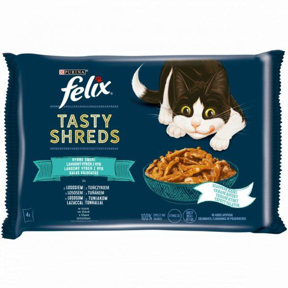 Félix 4x80g Tasty Shreds Lazac + Tonhal Szósz 073