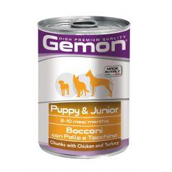 Gemon Dog Konzerv Puppy&Junior 415g Csirkével és Pulykával