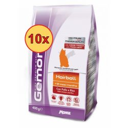 10x Gemon Cat 400g száraz Hairball