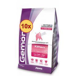 10x Gemon Cat 400g száraz Kitten
