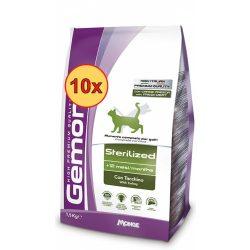 10x Gemon Cat 400g száraz Steril (pulyka)