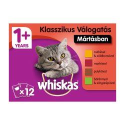 Whiskas Klasszikus válogatás répával Alutasakos macskaeledel 12x100g