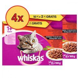 4x Whiskas Klasszikus válogatás répával Alutasakos macskaeledel 12x100g