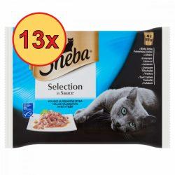 13x Sheba Halas válogatás szószban Alutasakos macskaeledel 4x85g