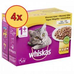 4x Whiskas Szárnyas válogatás Alutasakos macskaeledel 12x100g