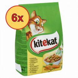 6x Kitekat száraz 1,8kg csirke + zöldség