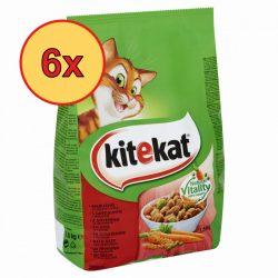 6x Kitekat száraz 1,8kg marha + zöldség