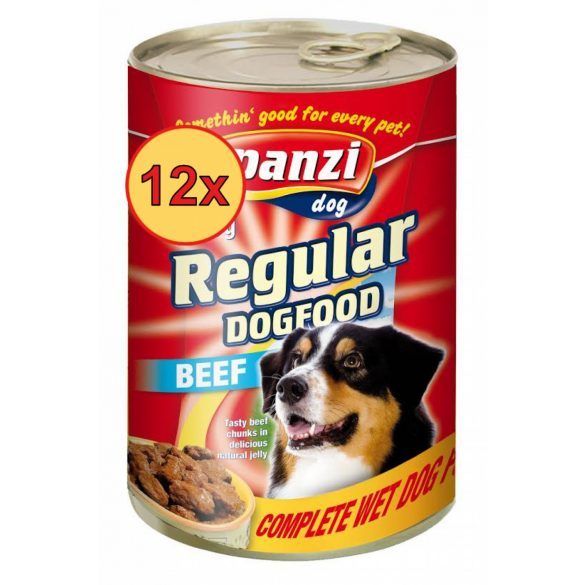 12x Panzi konzerv kutya 1240g marha