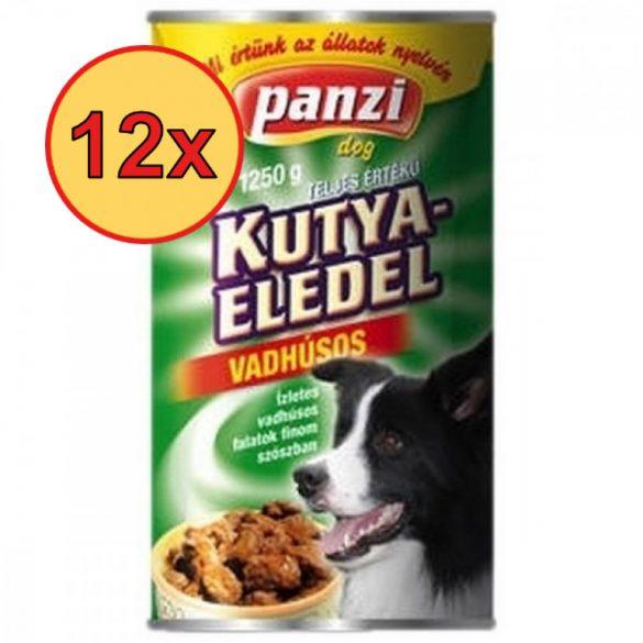 12x Panzi konzerv kutya 1240g vad