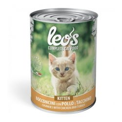 Leo's macskakonzerv 415g Kitten Csirke-Pulyka