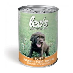 Leo's kutyakonzerv 415g Puppy Csirke-Pulyka