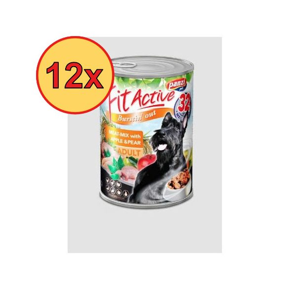 12x FitActive DOG 1240g Meat-Mix