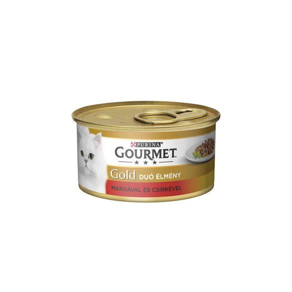 Gourmet Gold 85g Szósz Marha + Csirke