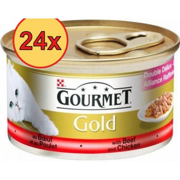 24x Gourmet Gold 85g Szósz Marha + Csirke