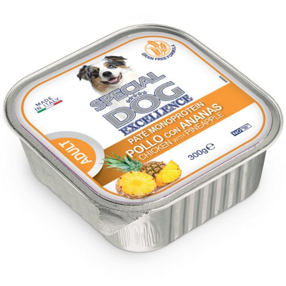 Special Dog Excellence Fruits 300g Pate Monoprotein Csirke+Ananász Alutálca