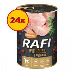 24x Rafi 400g Adult Pate Fürj Kék és Vörösáfonyával Kutyakonzerv