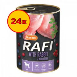 24x Rafi 400g Adult Pate Nyúl Kék és Vörösáfonyával Kutyakonzerv