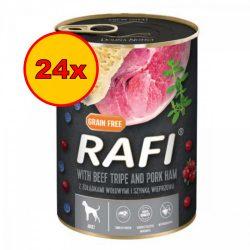 24x Rafi 400g Adult Pate Sonka + Pacal Kék és Vörösáfonyával Kutyakonzerv