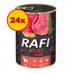 24x Rafi 400g Adult Pate Marha Kék és Vörösáfonyával Kutyakonzerv
