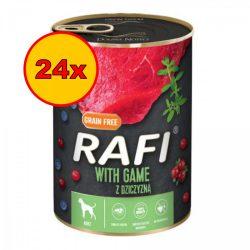 24x Rafi 400g Adult Pate Vad Kék és Vörösáfonyával Kutyakonzerv