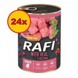 24x Rafi 400g Puppy Pate Borjú Kék és Vörösáfonyával Kutyakonzerv