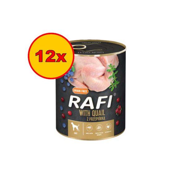 12x Rafi 800g Adult Pate Fürj Kék és Vörösáfonyával Kutyakonzerv