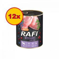 12x Rafi 800g Adult Pate Nyúl Kék és Vörösáfonyával Kutyakonzerv