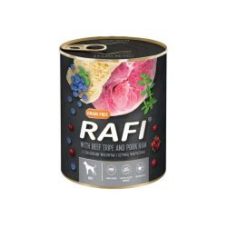 Rafi 800g Adult Pate Sonka + Pacal Kék és Vörösáfonyával Kutyakonzerv