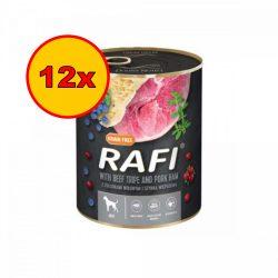 12x Rafi 800g Adult Pate Sonka + Pacal Kék és Vörösáfonyával Kutyakonzerv
