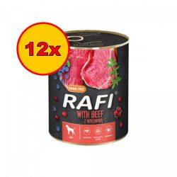 12x Rafi 800g Adult Pate Marha Kék és Vörösáfonyával Kutyakonzerv