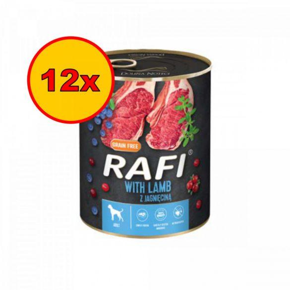 12x Rafi 800g Adult Pate Bárány Kék és Vörösáfonyával Kutyakonzerv