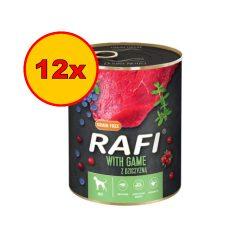 12x Rafi 800g Adult Pate Vad Kék és Vörösáfonyával Kutyakonzerv