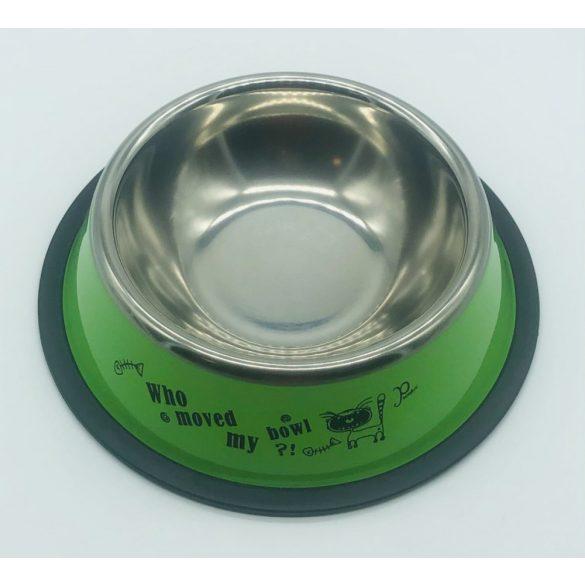 Etetőtál - zöld oldalú, fém 18cm 300ml