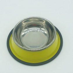 Etetőtál - citromsárga oldalú, fém 15cm 240ml