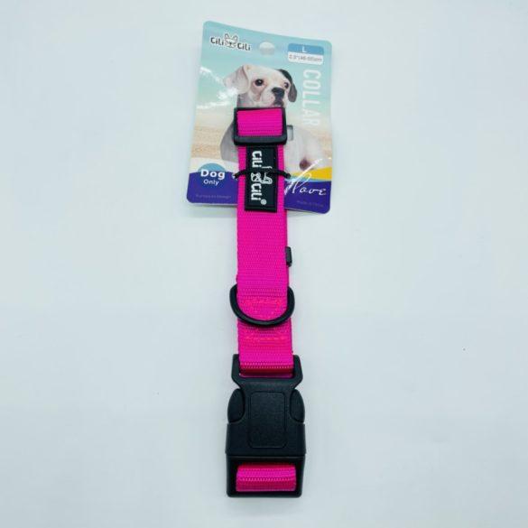 Nyakörv textil - L - 2,5cm x 46-55cm rózsaszín