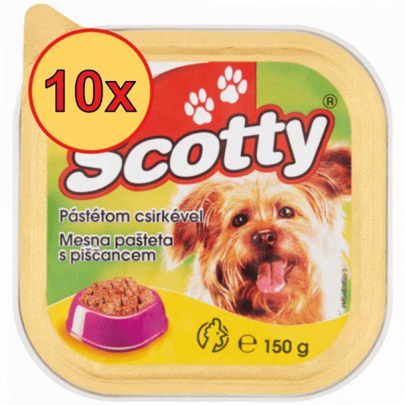 10x Scotty 150g Alutálca