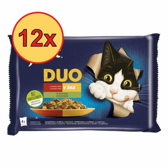 12x Félix 4x85g Fantastic Duo Csirke + Marha + Pulyka + Bárány Alutasak 932