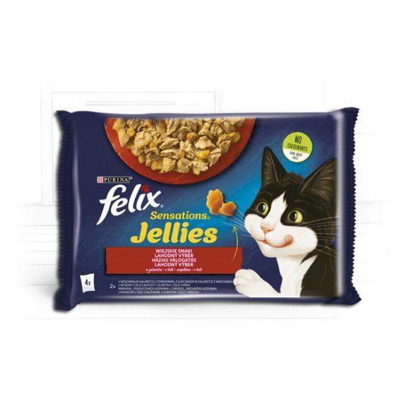 Félix 4x85g Sensation Zselé Marha + Csirke Alutasak 604