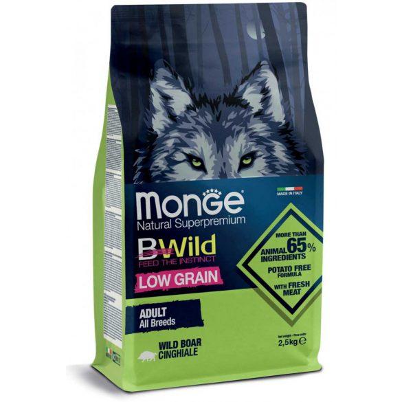 Monge Bwild Alacsony Gabonatartalmú 15kg Vaddisznó szuperprémium száraz kutyaeledel