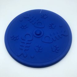 Frizbi 20cm - kék, 3D tappancs és hal mintával