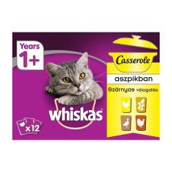 Whiskas Casserole Szárnyas válogatás Alutasakos macskaeledel 12x85g